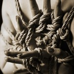 Adreena in yubi shibari (finger bondage)
