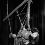 Flying in suspension bondage. (Model hay, Photographer clover)