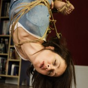 Nina Russ in Shibari rope bondage suspension