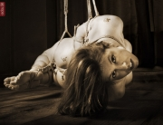 Lisa Smiths. Shibari bondage session.