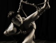 Twisted shibari partial suspension