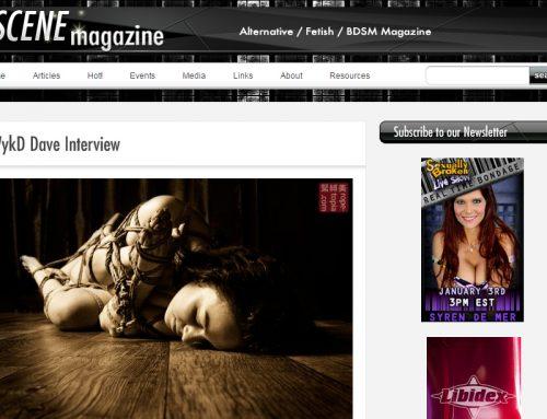 Interview with Scene Magazine.