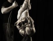 While tying shibari inversion