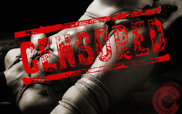 Censored bondage and sex
