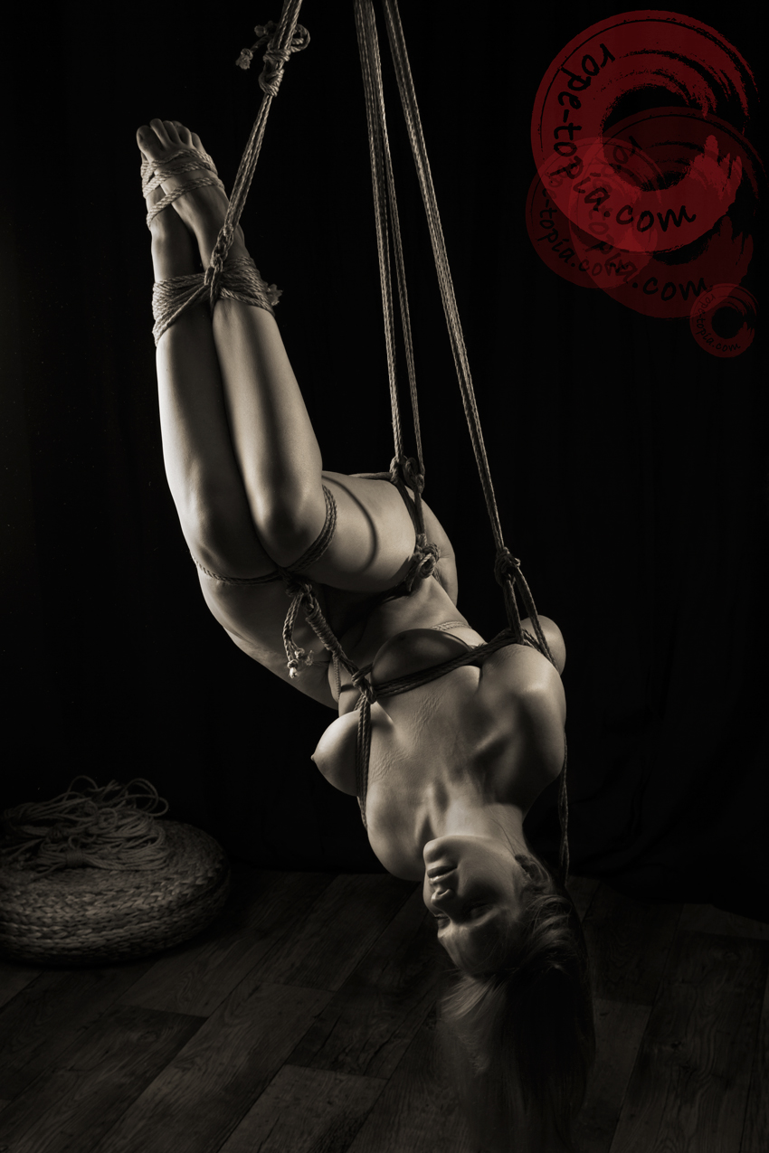Bound shibari suspended and spanked 7