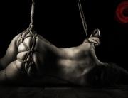 Shibari, bondage, suspension, partial, bum, bottom, tied