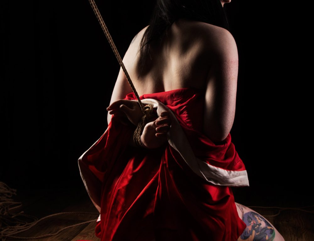 Shibari bondage shoot with Belle Morte 2016