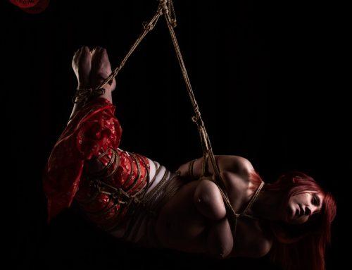 Red Riding Brat Shibari bondage shoot