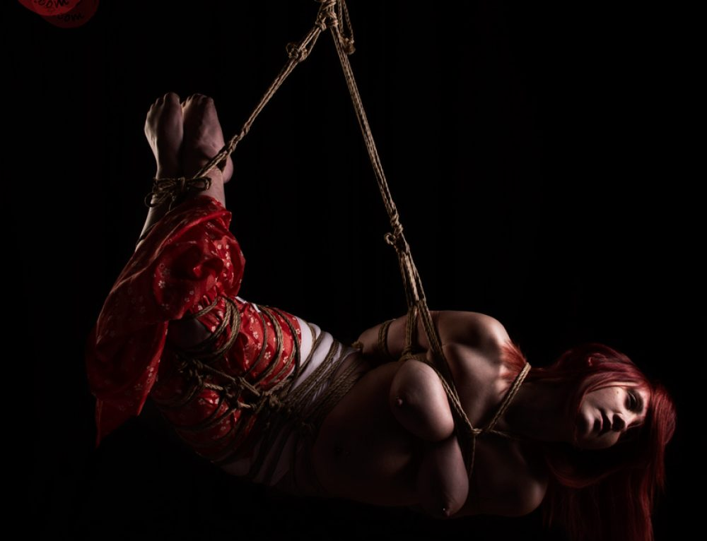 Red Riding Brat Shibari bondage shoot