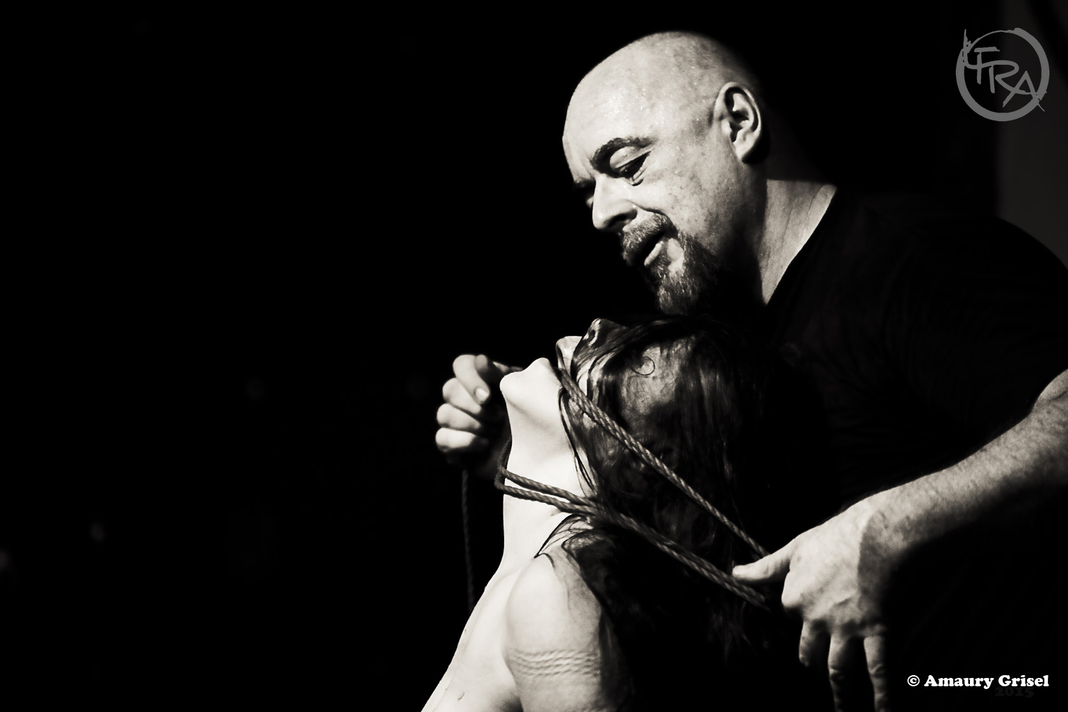 Performing at the first London Festival of Rope Art
