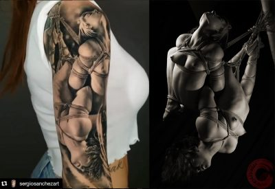 Kayleigh Swenson tattooed by Sergio Sanches Art